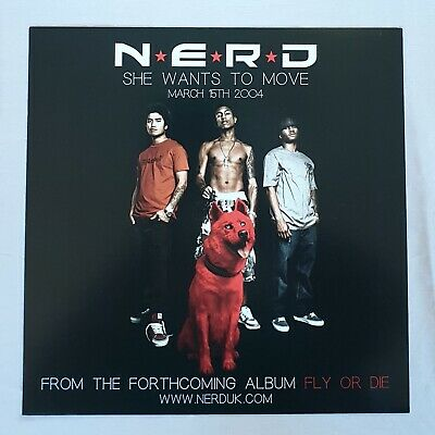 NERD She Wants To Move Promo Poster Ultra Rare  • 14.95£