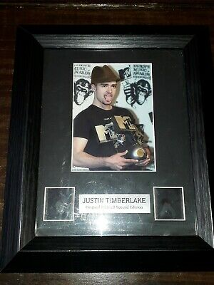 JUSTIN TIMBERLAKE SPECIAL EDITION DOUBLE FILM CELL And Certificate  • 4£