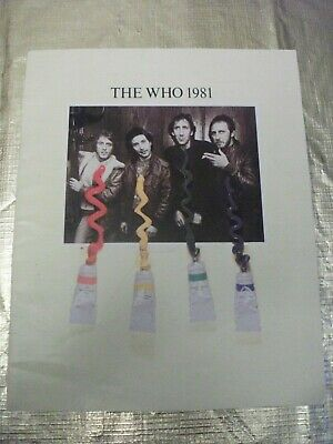 The Who ,1981 Memorabilia Booklet  • 6.50£