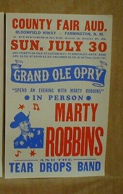 Marty Robbins Coutry Music Posters • 52£