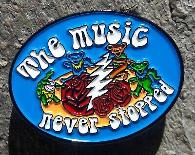 The Music Never Stopped Pin Grateful Dead Pin FREE SHIPPING!!! • 23.45£