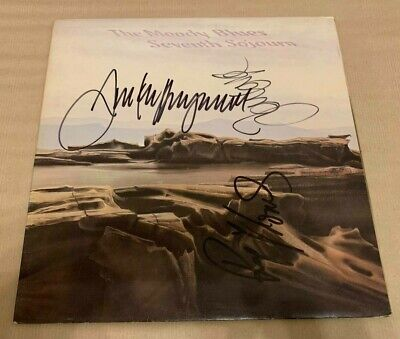 MOODY BLUES   -  SEVENTH SOJOURN  -  UK  LP  -  SIGNED By 3 MEMBERS   -  UACC RD • 74.99£