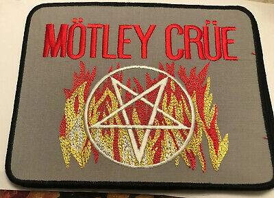 """Vintage Embroidered Motley Crue Sew Iron On Back Patch 8 1/2"""" Heavy Metal Band • 22.19£"""