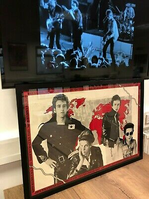 """The Clash Genuine 1978 UK """"Give Em Enough Rope"""" Framed Double Sided Punk Poster • 475£"""