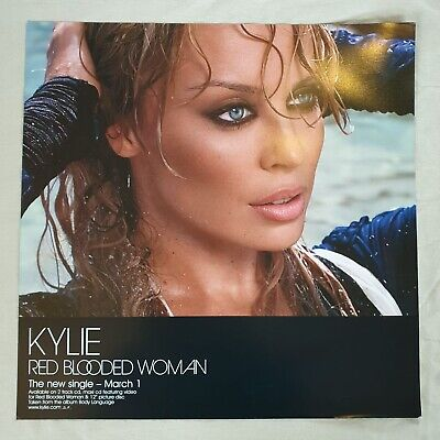 Kylie Minogue Red Blooded Women Promo Poster Ultra Rare  • 29.95£