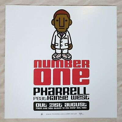 Pharrell Feat Kanye West Number One Promo Poster Ultra Rare  • 14.95£