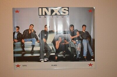 Vintage 1987 INXS On Tour Atlantic Records Promotional Poster 20  X 27   • 15.86£