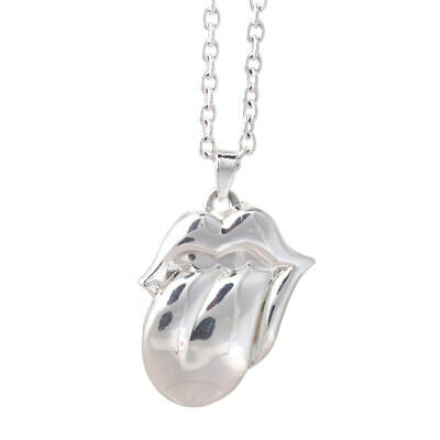 The Rolling Stones Silver Tongue Necklace • 16.99£