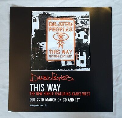 Dilated Peoples This Way Promo Poster Ultra Rare  • 19.95£