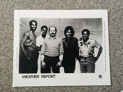 WEATHER REPORT (JAZZ FUSION BAND) OFFICIAL CBS Publicity Photo Circa 1980s • 4.99£