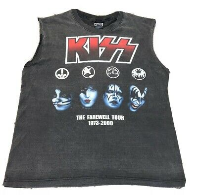 Vintage Official KISS Rock T Shirt Farewell Tour 2000 Sleeveless Large • 14.99£