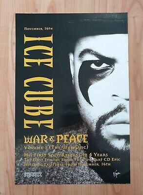 Ice Cube War And Peace Promo Poster Ultra Rare • 19.95£