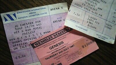 GENESIS - The Invisible Touch Tour - 1987 Wembley Stadium Ticket Stub • 50£