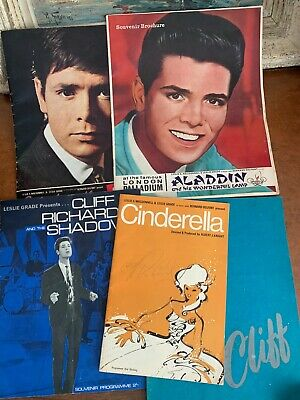 Cliff Richard Signed Autograph Cinderella Programme And Other Programmes • 175£