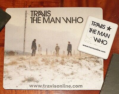 Travis The Man Who 1999 UK Promotional Mousemat Ultra Rare  • 17.95£