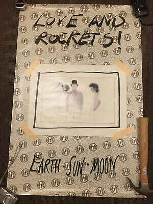 "Love And Rockets Official Promo Poster 24 X 36"" • 15£"