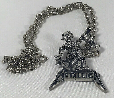Vtg Metallica And Justice For All Necklace Pendant Metal Authentic  • 31.75£