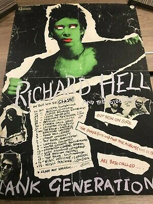 Richard Hell & The Voidoids & The Clash Sire Bootleg Punk Poster • 85£