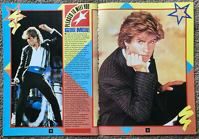 GEORGE MICHAEL - 1986 2-page UK Magazine Annual Poster Feature • 3.95£