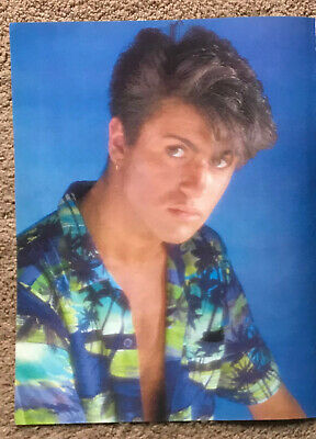 GEORGE MICHAEL - 1984 Full Page UK Magazine Annual Poster WHAM! • 3.95£