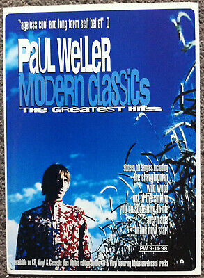 PAUL WELLER - MODERN CLASSICS 1998 Full Page UK Magazine Ad • 3.95£