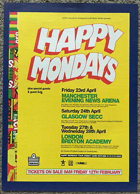 HAPPY MONDAYS - LIVE DATES 1999 Full Page UK Magazine Ad • 3.95£
