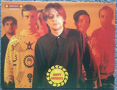 HAPPY MONDAYS -  Full Page UK Magazine Poster • 3.95£