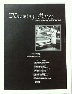THROWING MUSES - THE REAL RAMONA / TOUR DATES 1991 Full Page UK Magazine Ad 4AD • 3.95£