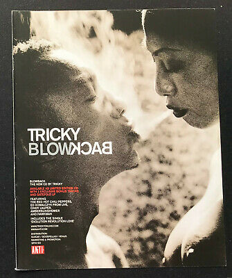 TRICKY - BLOWBACK 1999 Full Page Italian Magazine Ad • 3.95£