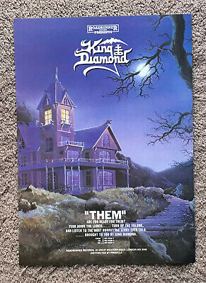 KING DIAMOND - THEM  1988 Full Page UK Magazine Ad In Colour • 3.95£