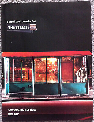 THE STREETS - A GRAND DON'T COME FOR FREE 2014 Full Page UK Magazine Ad • 3.95£