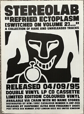 STEREOLAB - REFRIED ECTOPLASM 1995 Full Page UK Magazine Ad • 3.95£