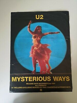 U2 Promo Poster For MYSTERIOUS WAYS Album Release - 1991 • 9.99£