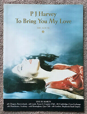 PJ HARVEY - TO BRING YOU MY LOVE 1995 Full Page UK Magazine Ad • 3.95£