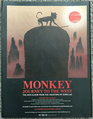 MONKEY - JOURNEY TO THE WEST  2008 Full Page UK Magazine Ad GORILLAZ • 3.95£
