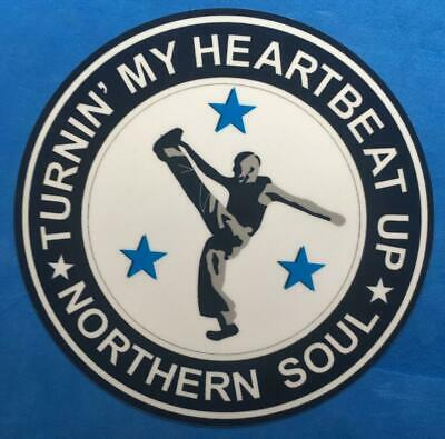 Northern Soul Car Window Sticker - Turnin' My Heartbeat Up • 1.49£