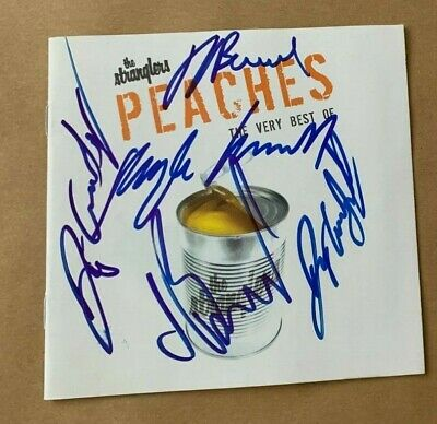 The Stranglers   -  Peaches  -    Uk  Punk  Cd Lp -   Fully Signed   -   Uacc Rd • 94.99£