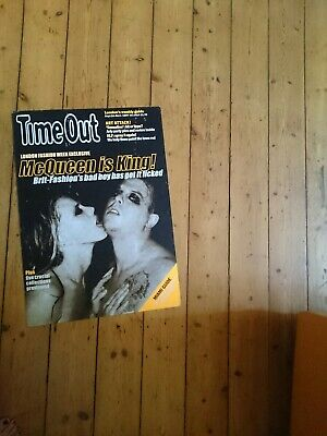 Alexander McQueen Rare TIME OUT UK LARGE ADVERTISING POSTER  CARDBOARD  • 30£