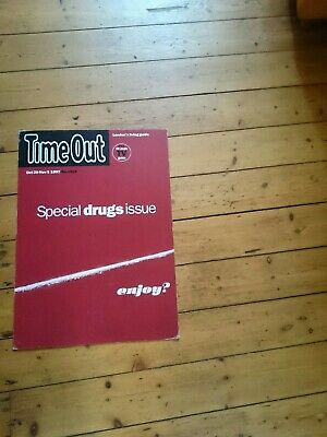 Special Drugs Issue TIME OUT UK LARGE ADVERTISING POSTER  CARDBOARD 1997 • 24£