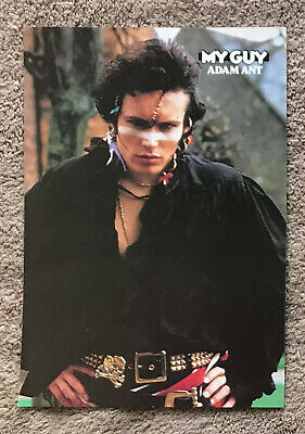 ADAM ANT - 1980s Full Page UK Magazine Annual Poster AND THE ANTS • 3.95£