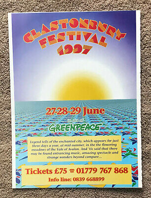 GLASTONBURY - 1997 Full Page UK Magazine Ad • 3.95£