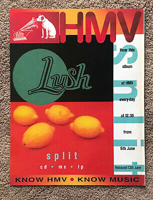 LUSH - SPLIT 1994 Full Page UK Magazine Ad 4AD • 3.95£