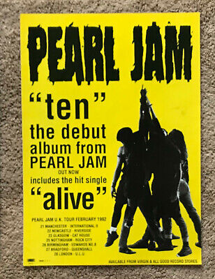 PEARL JAM - TEN 1991 Full Page UK Magazine Ad • 3.95£