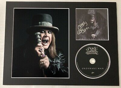 Signed Ozzy Osbourne Ordinary Man Autographed Fully Mounted Cd Display Rare • 49.99£