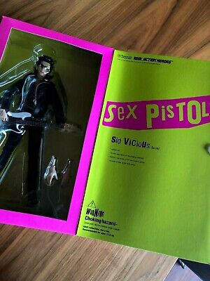 Large 12  Boxed Sid Vicious Medicom Sex Pistols Figure In Excellent Condition • 149.95£