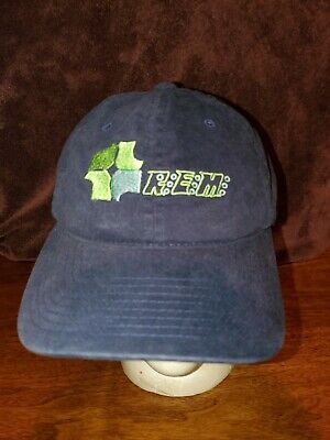 R.E.M. 2004 Corporate Cap Hat Flexfit Navy Blue Embroidered Green Euc Yupoong • 31.75£