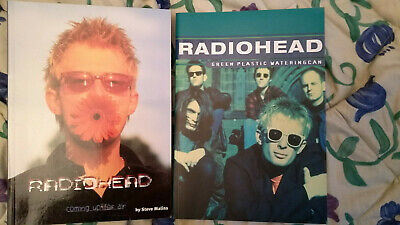 2 Radiohead Books Coming Up For Air & Green Plastic Wateringcan Watering Can • 40£