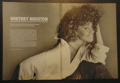 Vintage 80's WHITNEY HOUSTON Vocal Singer 1986 Print Article Photo Clipping • 27.59£