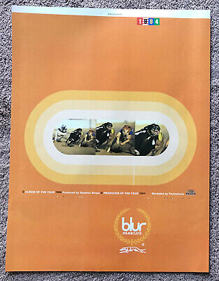 BLUR - PARKLIFE 1994 Full Page UK Magazine Ad • 3.95£