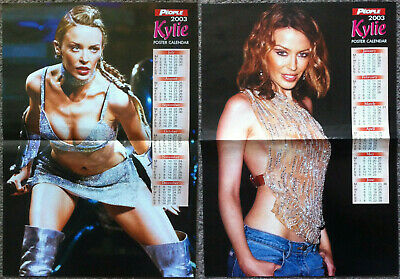 KYLIE MINOGUE - 2003 Double-sided Gatefold Poster Calendar • 4.95£
